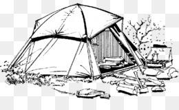 رسم خيمة في الصحراء